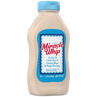 KRAFT MIRACLE WHIP Dressing Light 12 fl oz Bottle