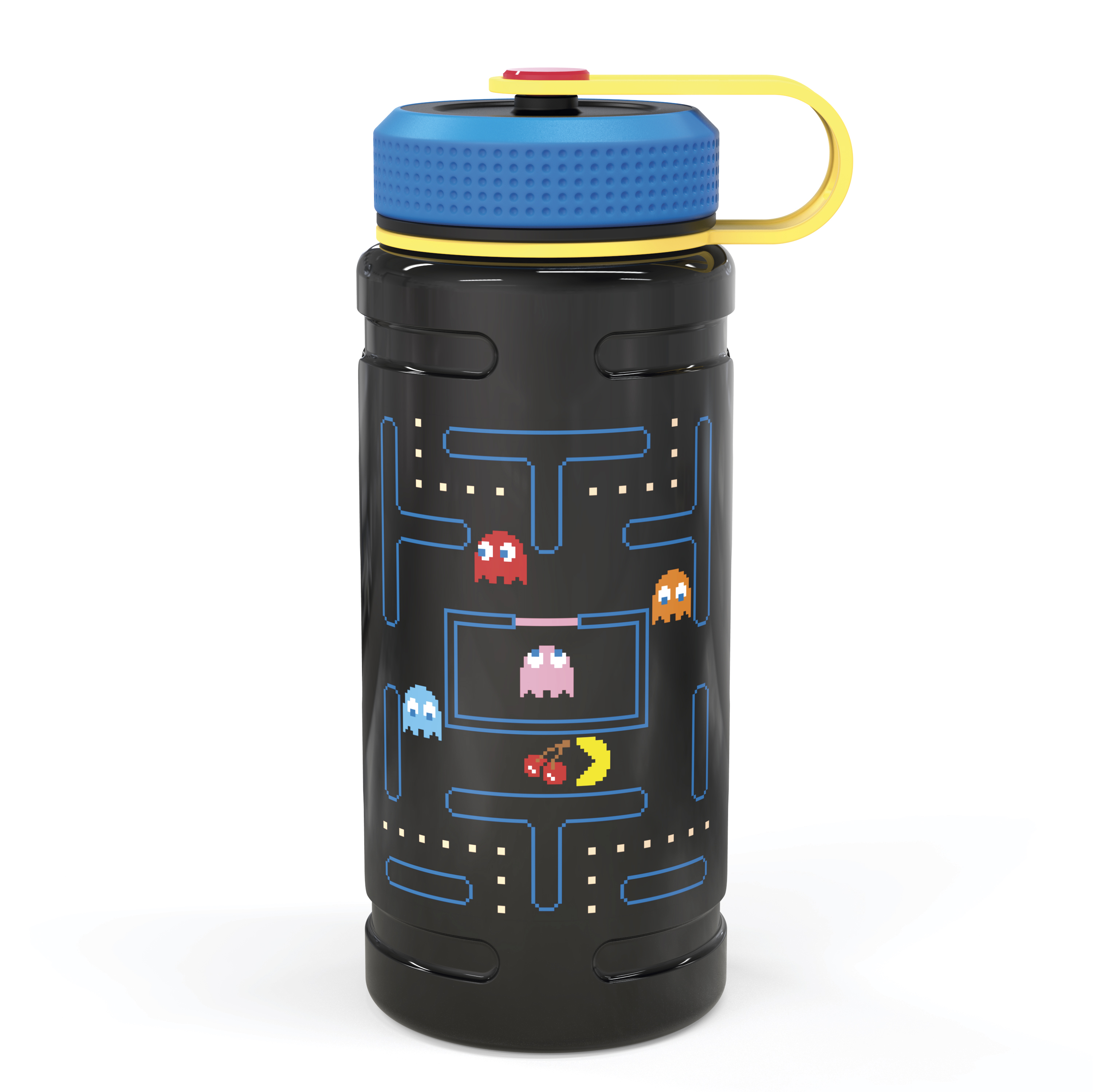 Retro Gaming 24 ounce Stainless Steel Insulated Water Bottle, Pac Man and Ghosts slideshow image 1