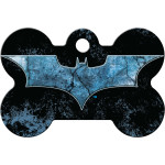 Batman Logo Large Bone Quick-Tag