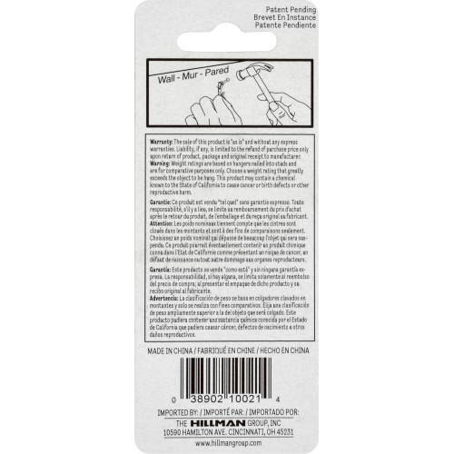 Hillman ReadyNail Conventional Picture Hanger 20lb Pack of 6