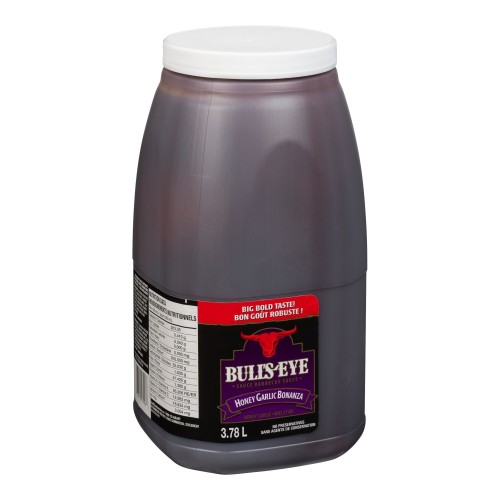 BULL'S-EYE Barbecue Sauce Honey Garlic Bonanza 3.78L 2
