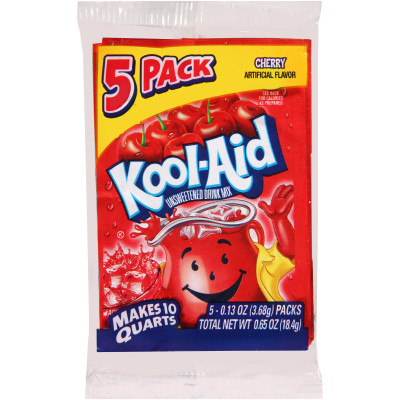 Kool-Aid Unsweetened Cherry Powdered Soft Drink 5 - 0.13 oz Packs