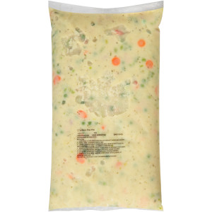 QUALITY CHEF Chicken Pot Pie Filling, 8 lb. Frozen Bag (Pack of 6) image