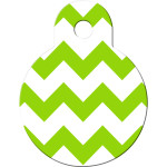 Chevrons Green and White Small Circle Quick-Tag
