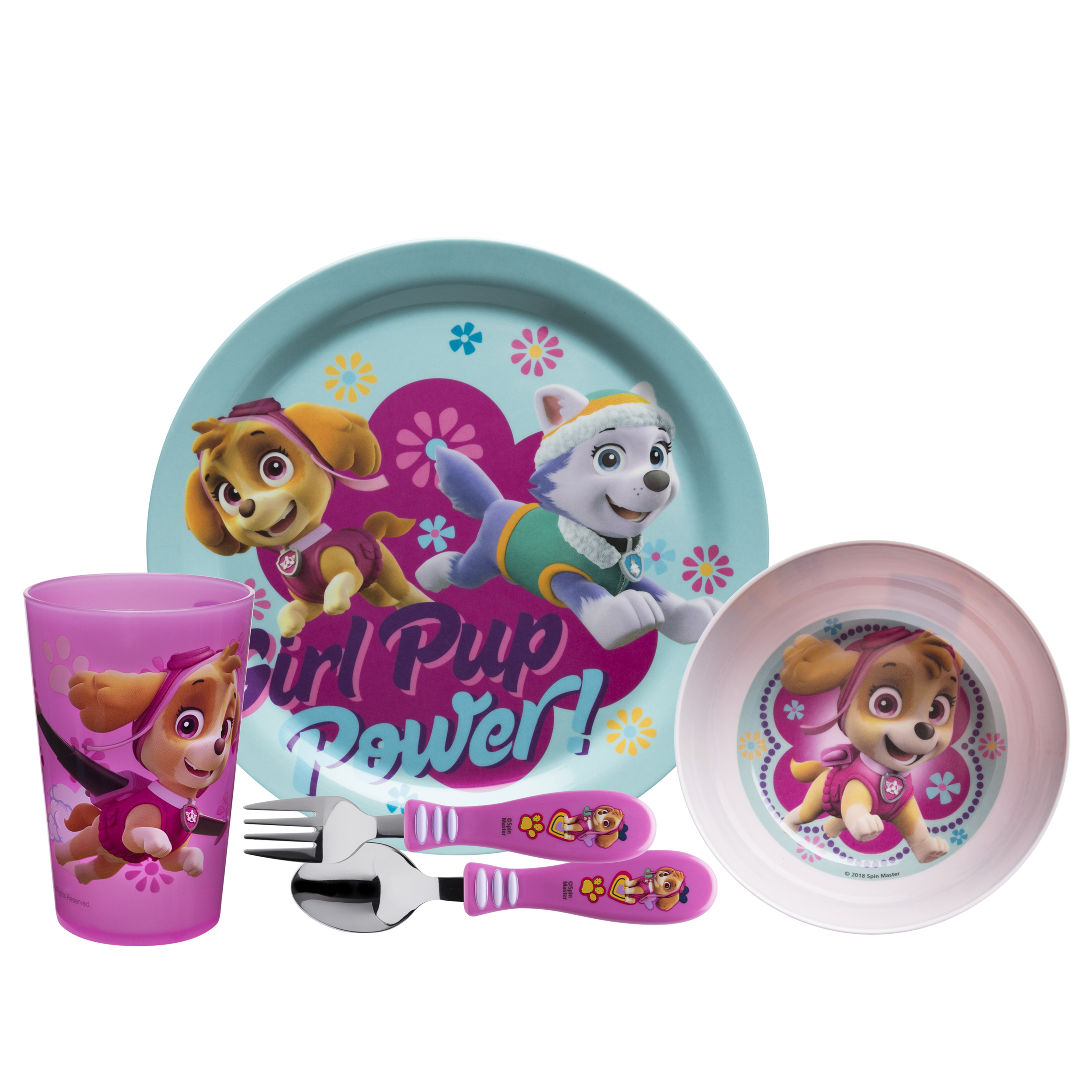 Paw Patrol Dinnerware Set, Skye & Everest, 5-piece set slideshow image 2