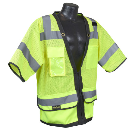 Radians SV59Z-3 Type R Class 3 Heavy Duty Surveyor Safety Vest with Zipper