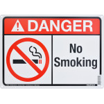 "Aluminum No Smoking Danger Sign 10"" x 14"""