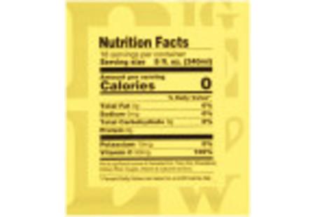 Nutritional panel of Lemon and Echinacea Black Tea plus Vitamin C box