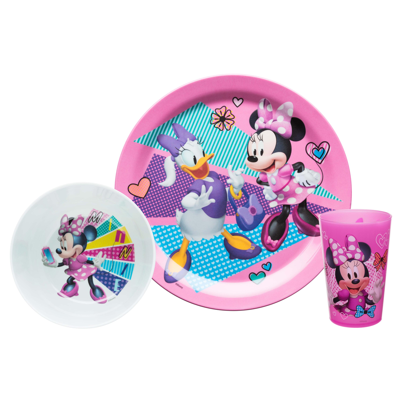 Disney Kid's Dinnerware Set, Minnie Mouse, 3-piece set image
