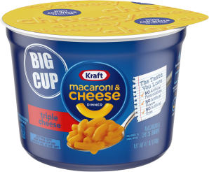 Kraft Triple Cheese Macaroni & Cheese Dinner 4.1 oz Microcup image