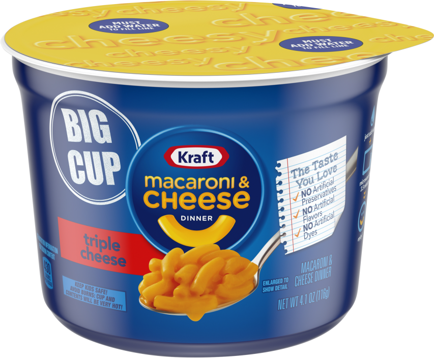 Kraft Triple Cheese Macaroni & Cheese Dinner 4.1 oz Microcup
