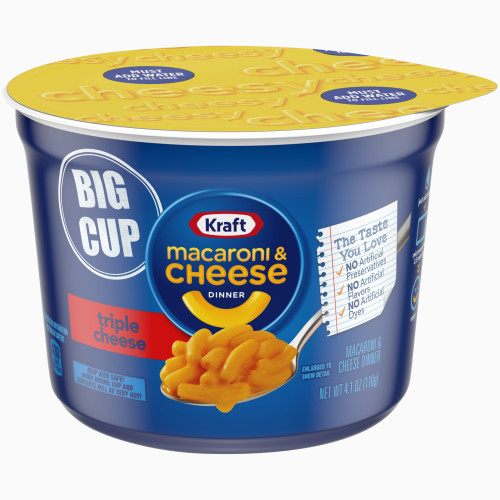 Kraft Triple Cheese Easy Mac Cups, 4.1 oz.