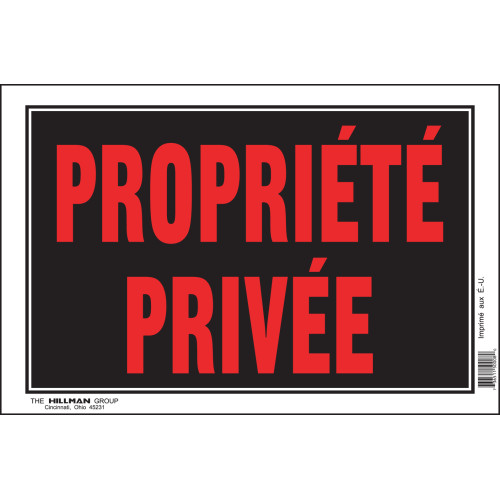 French Private Property Sign Black and Red (8
