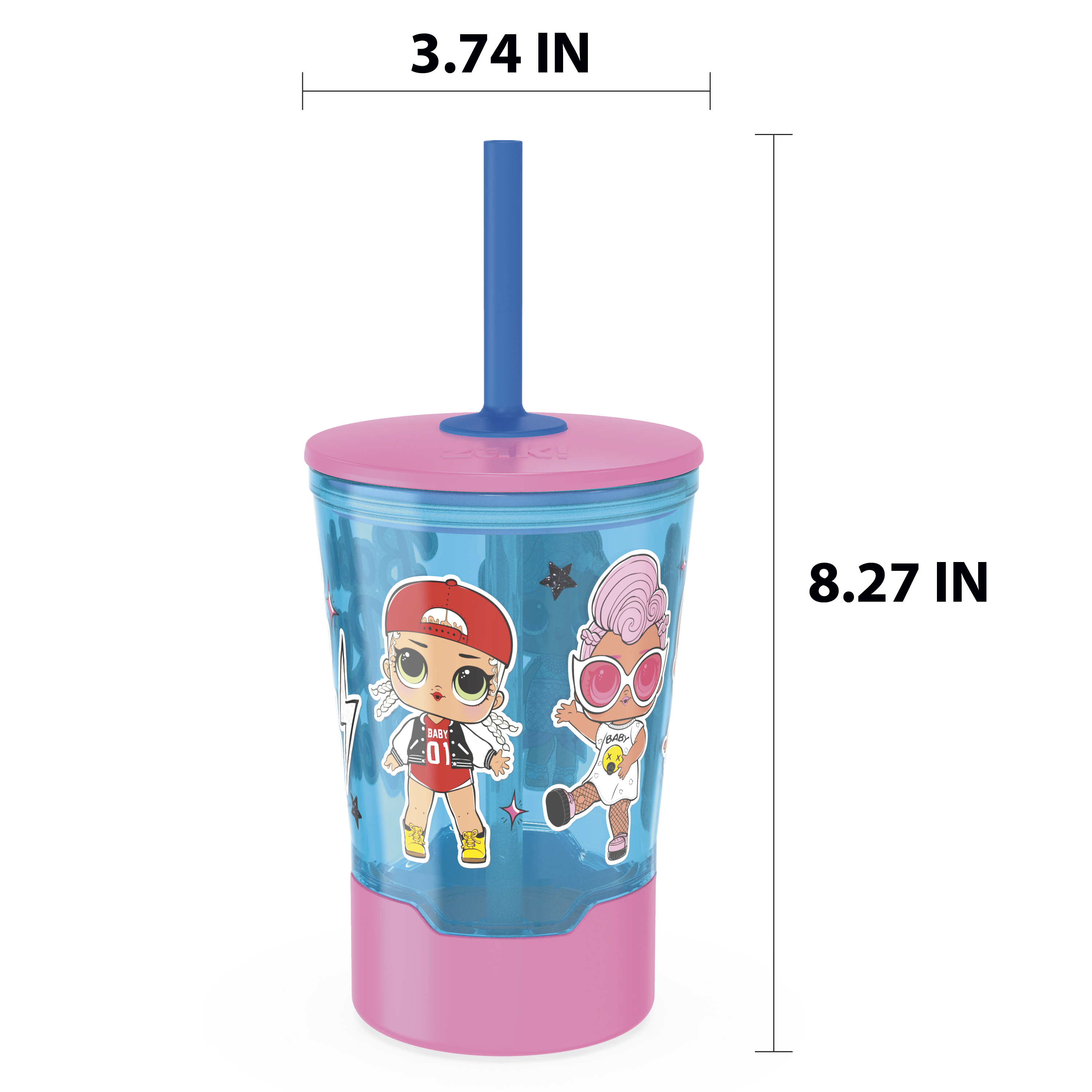 LOL Surprise 16 ounce Mighty Mug Tumbler with Straw, Babies Run the World slideshow image 9