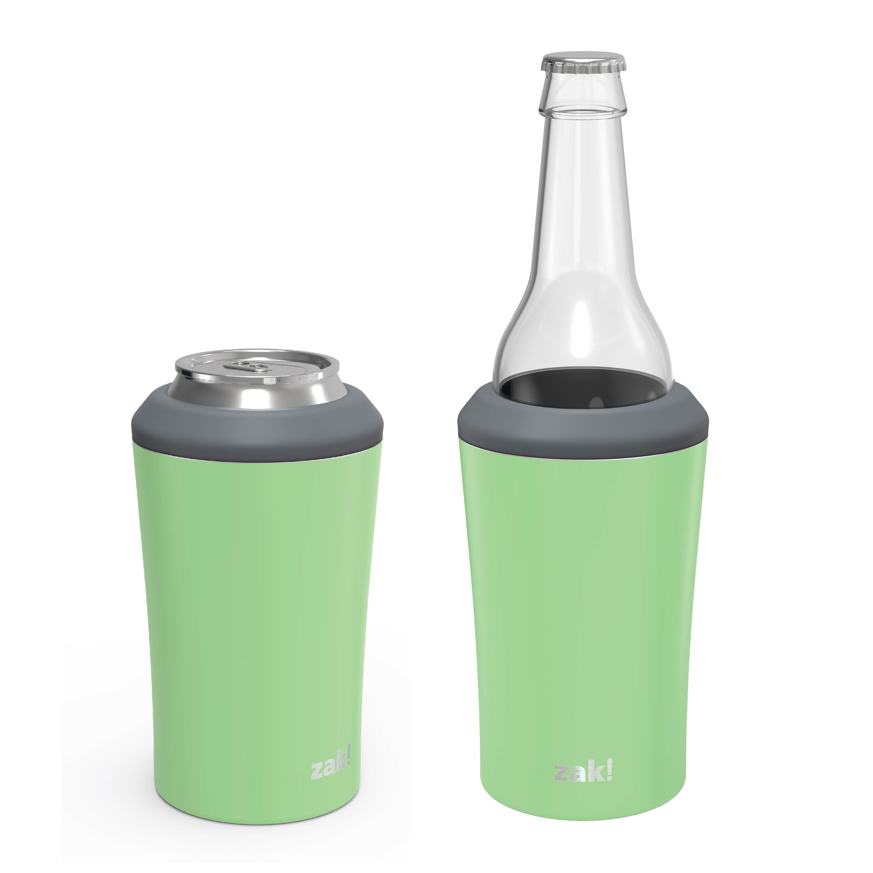 Zak Hydration 12 ounce Double Wall Stainless Steel Can and Bottle Cooler with Vacuum Insulation, Pistachio slideshow image 2