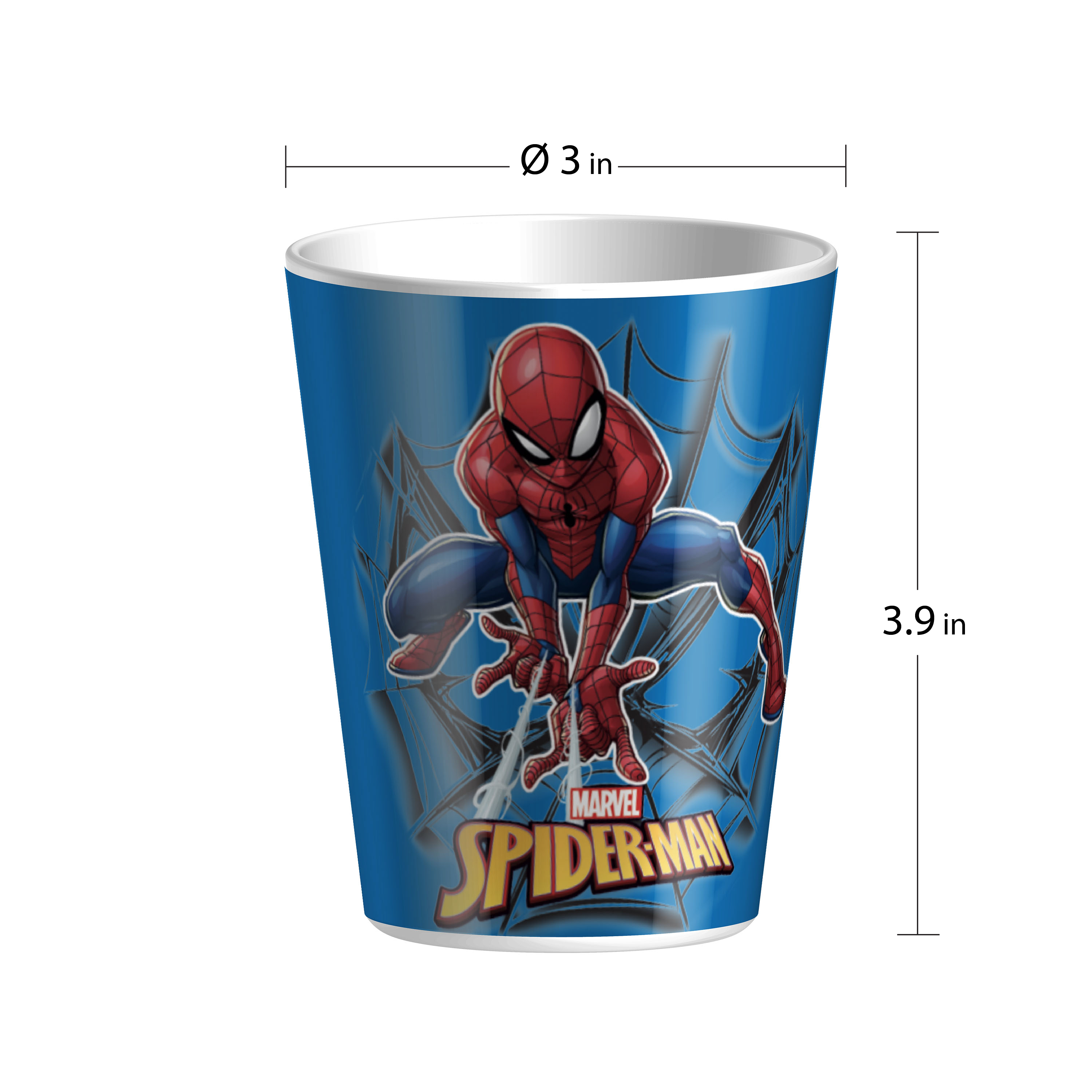 Marvel Kid's Dinnerware Set, Spider-Man, 3-piece set slideshow image 2