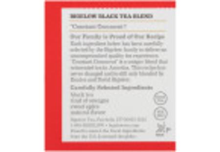 Ingredient panel of Constant Comment Tea box - 20 tea bags per box