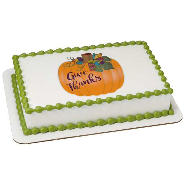 Give Thanks Pumpkin PhotoCake® Edible Image®