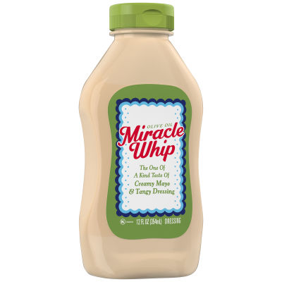 KRAFT MIRACLE WHIP Dressing with Olive Oil 12 fl oz Bottle