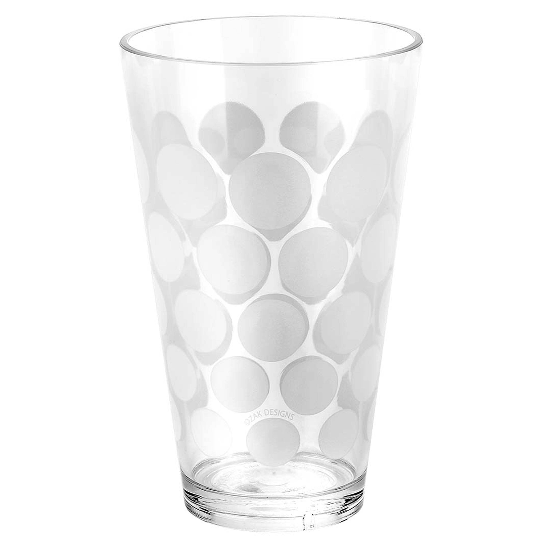 Dot Dot 20 ounce Highball Glass, White, 6-piece set slideshow image 12