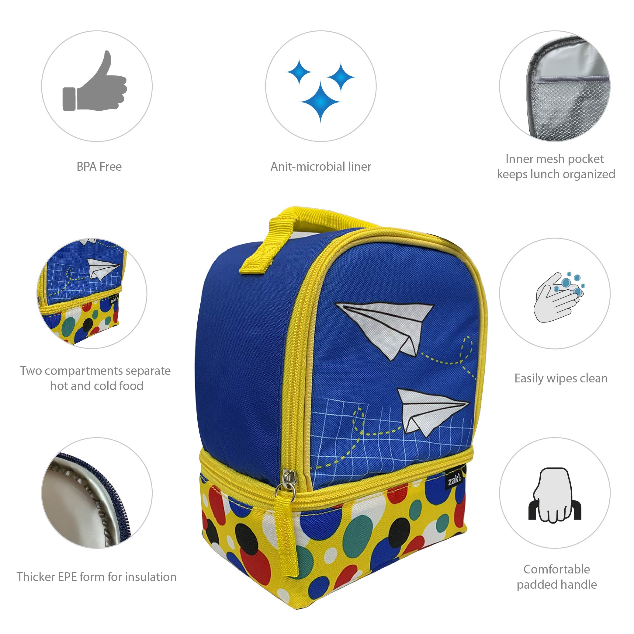 Grid Lock Lunch Bags, Planes slideshow image 4