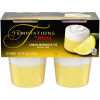 Jell-O Temptations Ready to Eat Lemon Meringue Pie Pudding Cups, 13.4 oz Sleeve (4 Cups)