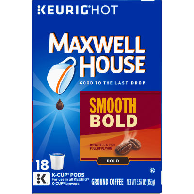 Maxwell House Smooth Bold Coffee K-Cup Pods, 18 ct