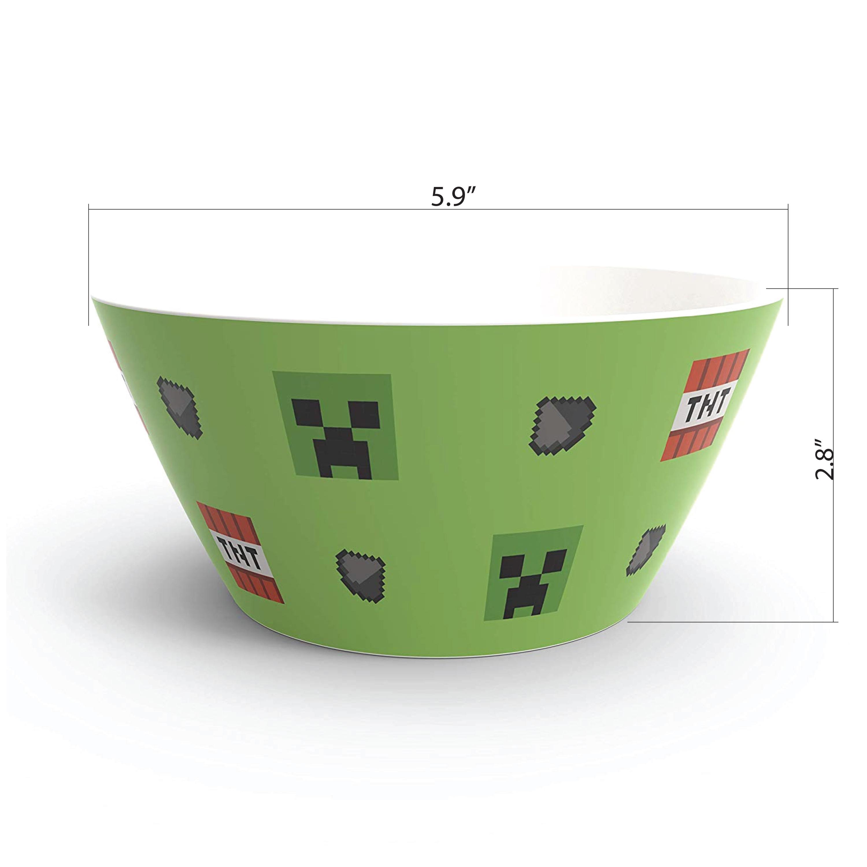 Minecraft Dinnerware Set, Creeper, 2-piece set slideshow image 7