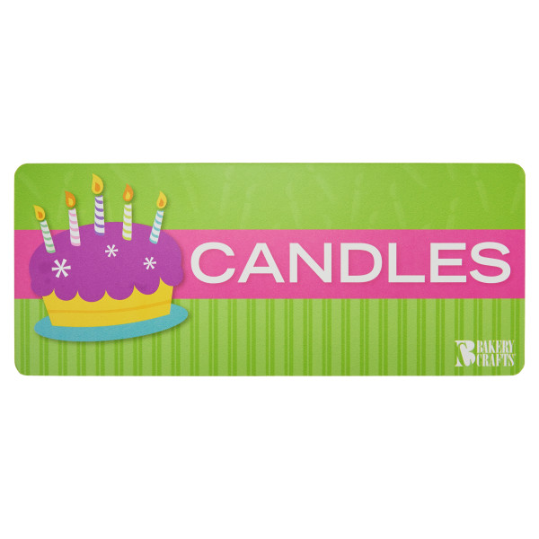 Bakery Crafts Candle for Counter Rack Header Card