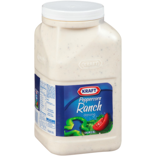 KRAFT Peppercorn Ranch Dressing, 1 gal. Jugs (Pack of 4)