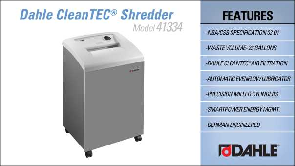DAHLE CleanTEC® 41334 High Security Small Office Shredder InfoGraphic