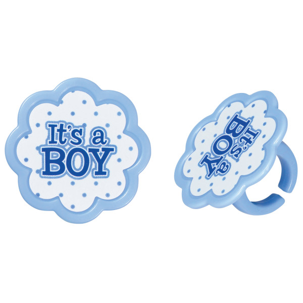 It's a Boy Cupcake Rings