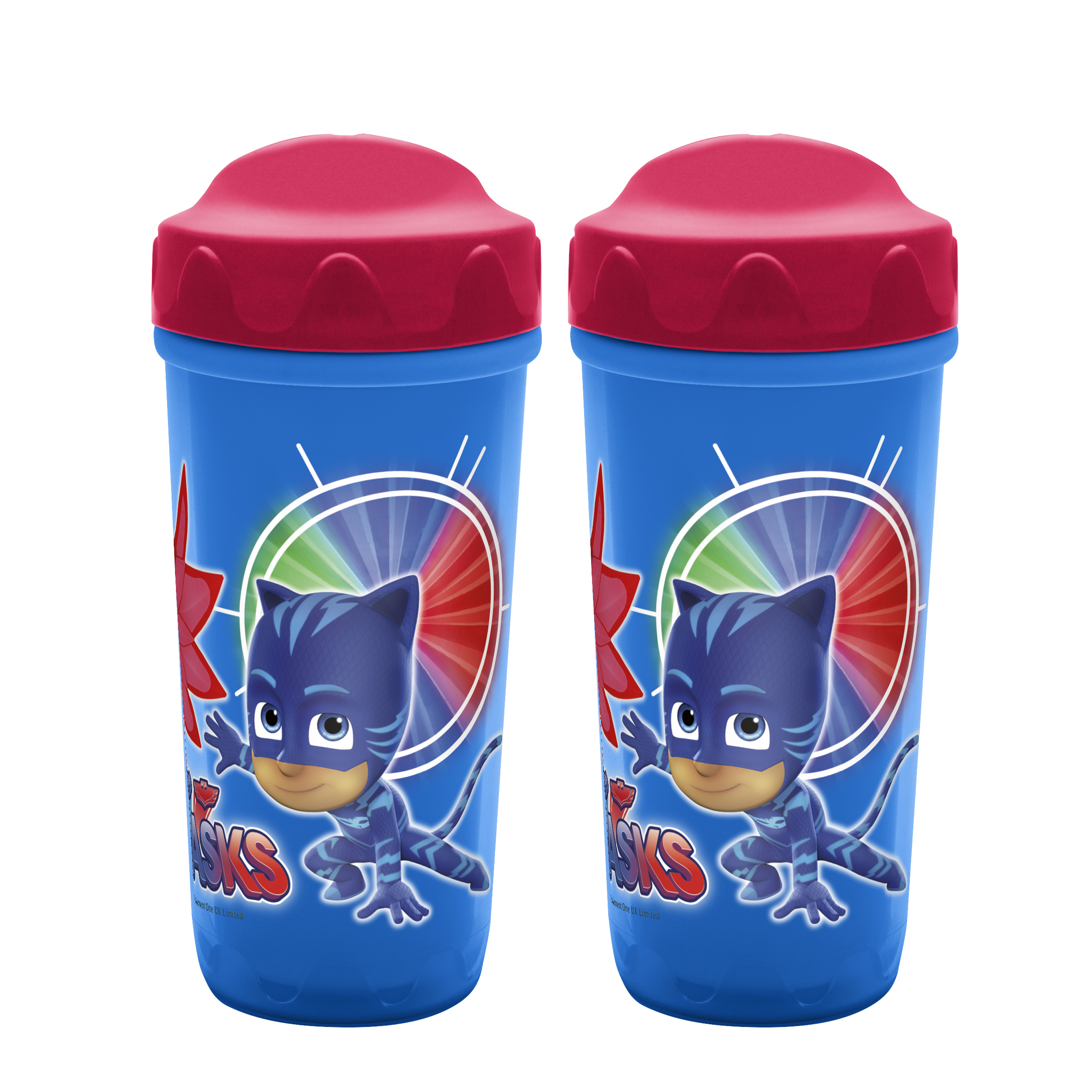 PJ Masks 8.7 ounce Sippy Cup, Catboy, Owlette & Gekko, 2-piece set slideshow image 1