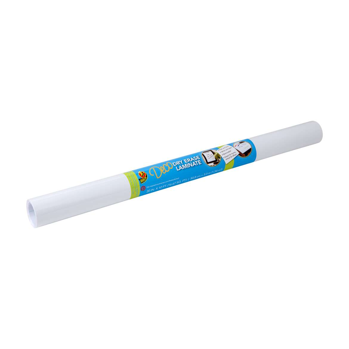 Duck® Brand Deco Adhesive Laminate - Dry Erase, 20 in. x 10 ft. Image