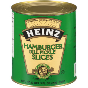 HEINZ Hamburger Cut Dill Pickles #10 Can, 6.9 Lb. (Pack of 6) image