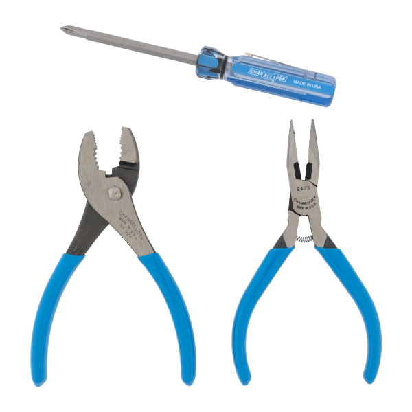 LC-22S 2pc Pliers Set with 2n1 Professional Driver