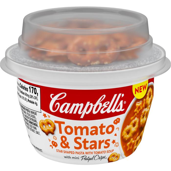 Tomato & Stars Soup with Pretzels