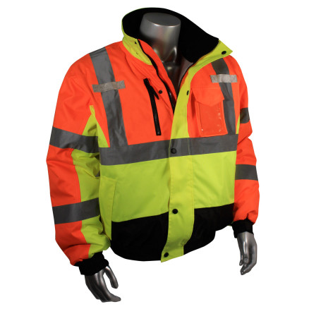Radians SJ12 3 Weatherproof Multi-Color Bomber Jacket with Quilted Built-In Liner