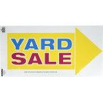 Vibrant Peel-n-Stick Arrow Yard Sale Sign
