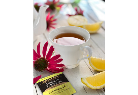 Cup of Lemon and Echinacea with Vitamin C and foil packet