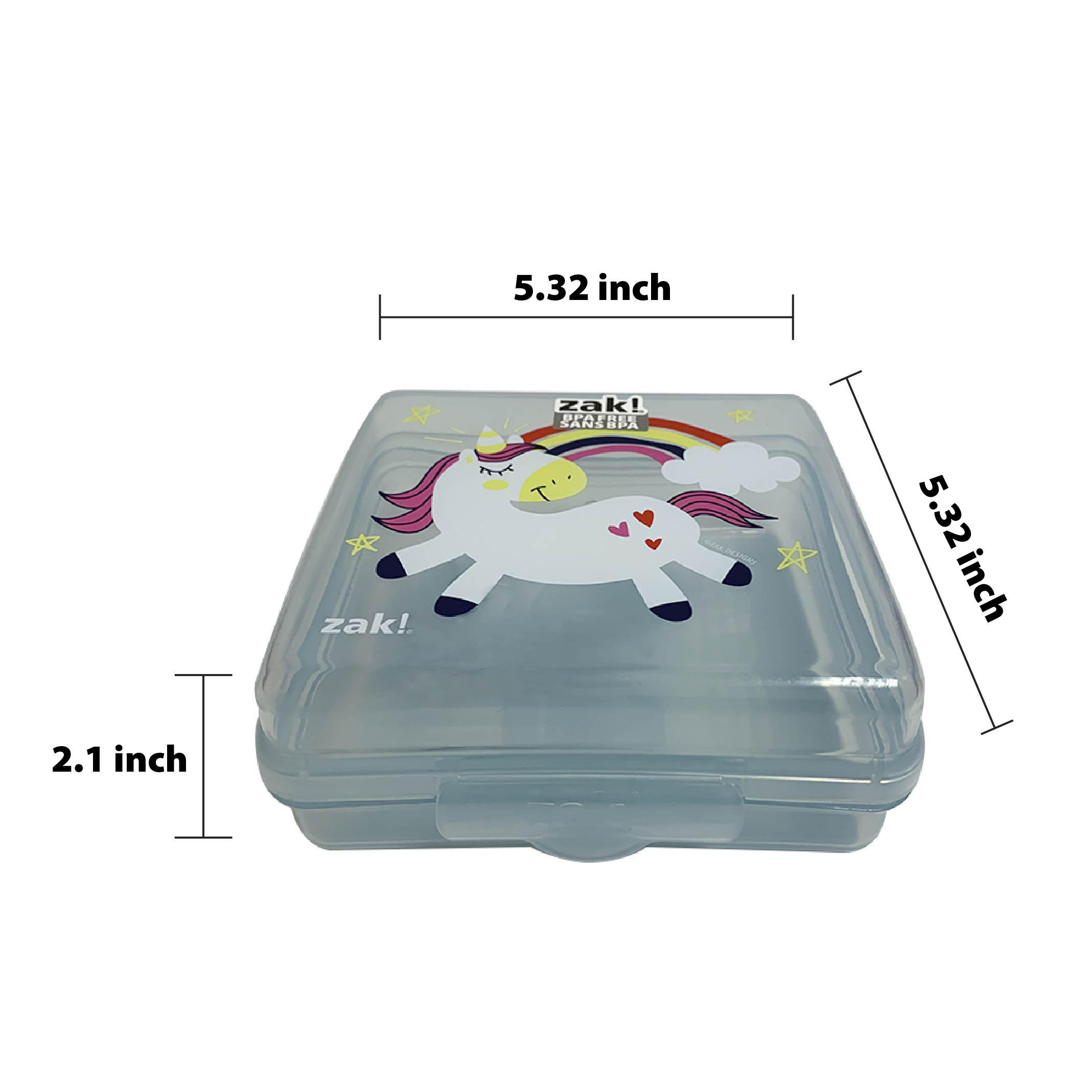 Happy Things Reusable Hinged Food Container, Unicorns slideshow image 5