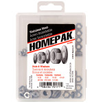 HOMEPAK Stainless Steel Nuts & Washers Assortment Kit