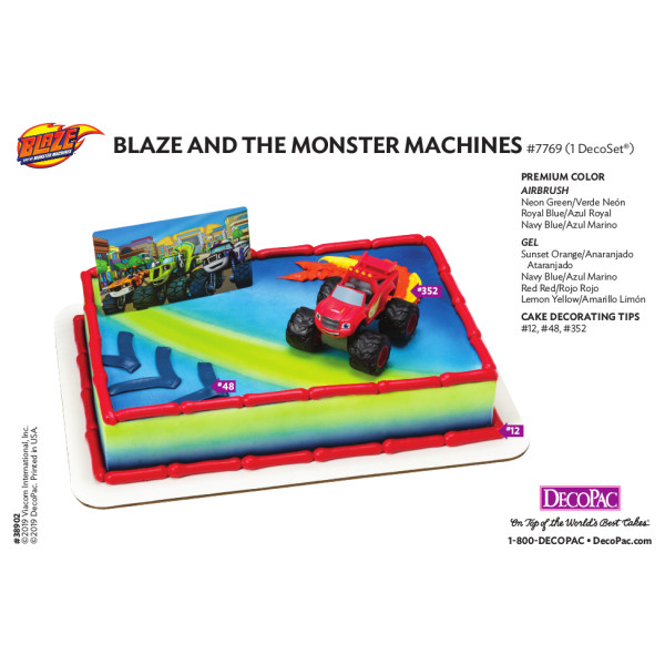 Blaze and the Monster Machines™ Cake Decorating Instruction Card