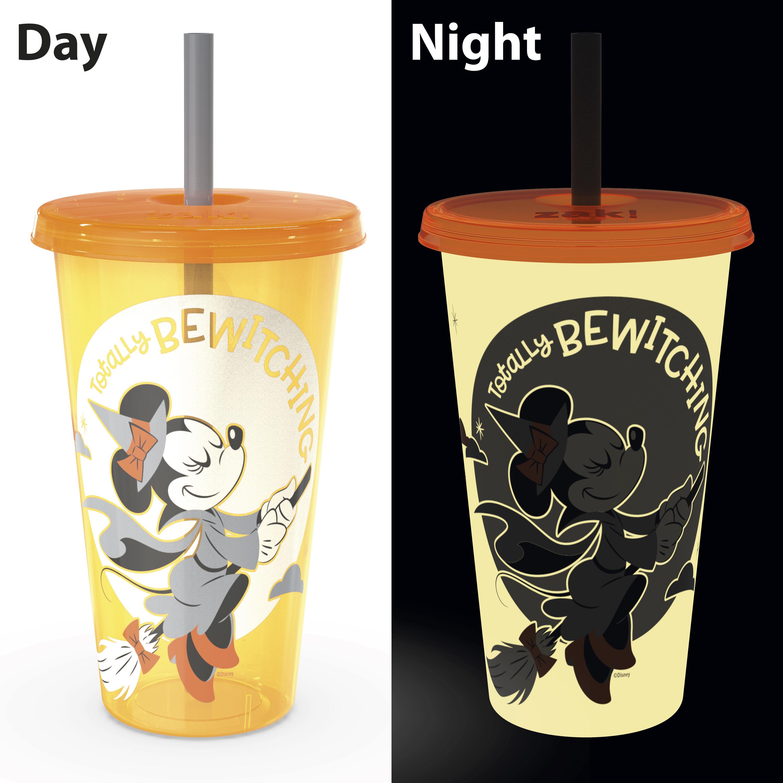 Disney 24 ounce Reusable Plastic Kids Tumbler, Mickey Mouse, 4-piece set slideshow image 9
