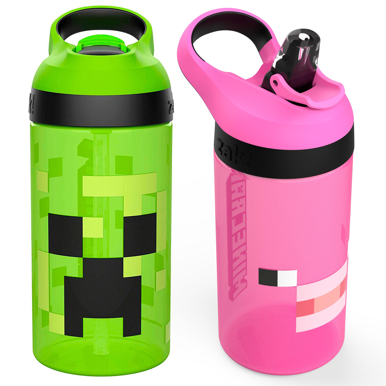 Minecraft 16 ounce Water Bottle, Creeper & Pig, 2-piece set slideshow image 1