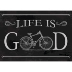 "Aluminum Life Is Good Bike Sign 10"" x 14"""