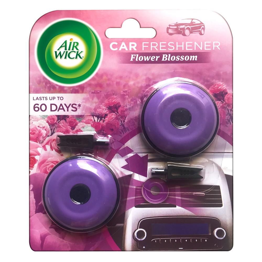 AIR WICK® AROMATIZANTE DE AMBIENTE PARA AUTOMÓVILES, FLOWER BLOSSOM, 2 PACK 8gr (c/u)