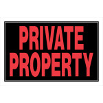 "Private Property Sign, 8"" x 12"""