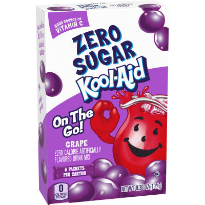 Kool-Aid On-The-Go Sugar-Free Grape Powdered Soft Drink 6 - 0.36 oz Packets