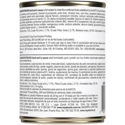 Royal Canin Breed Health Nutrition Labrador Retriever Adult Canned Dog Food